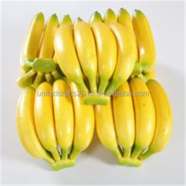 Indian home decor high simulation artificial fake bananas for Artificial banana leaves decoration