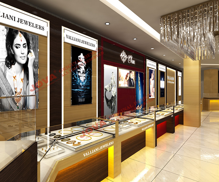 Luxury Display Shop Design Jewellery Showcase