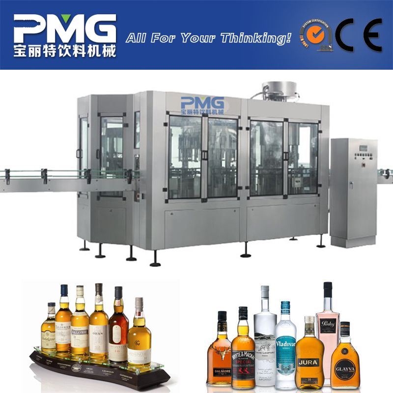 Best price wine bottle filling machine / bottled alcoholic beverages