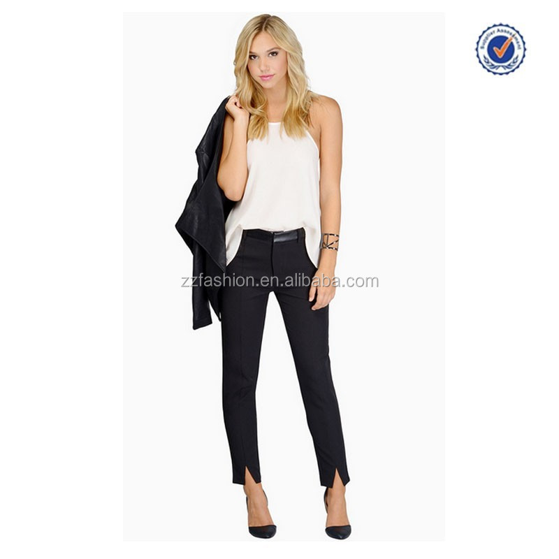2015 cheap wholesale lady formal pencil pants China factory custom formal pants for ladies