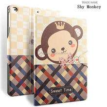 auto sleep wake function color printing pu leather case with buckle for ipad air 1 for ipad air 2
