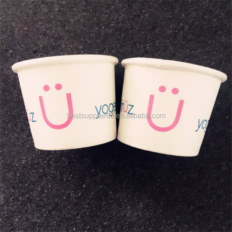 Biodegradable Custom printingDisposable Paper Frozen Yogurt Cup/Paper Ice Cream Cup