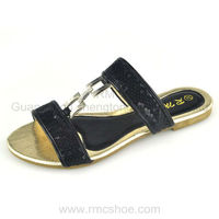 RMC stylish metal ornement ladies sandals pu sole
