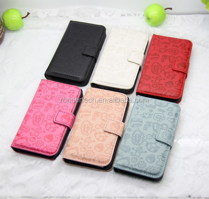 PU leather case for xiaomi mi2, best gift girl's phone case for xiaomi mi2