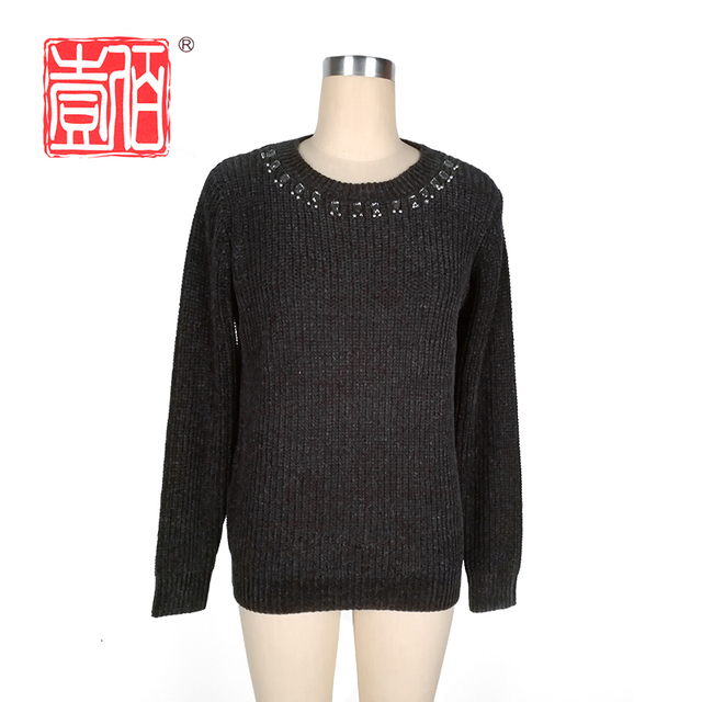 black women half cardigan sweaters pullover knit wear with basic style