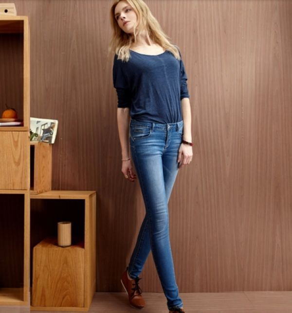 Chic Brand High Quality ShenZhen Factory Lady Denim Jeans