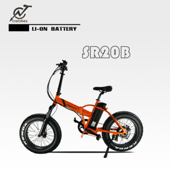 2018 hot sell 20*4.0 alloy electric frame folding bicycle