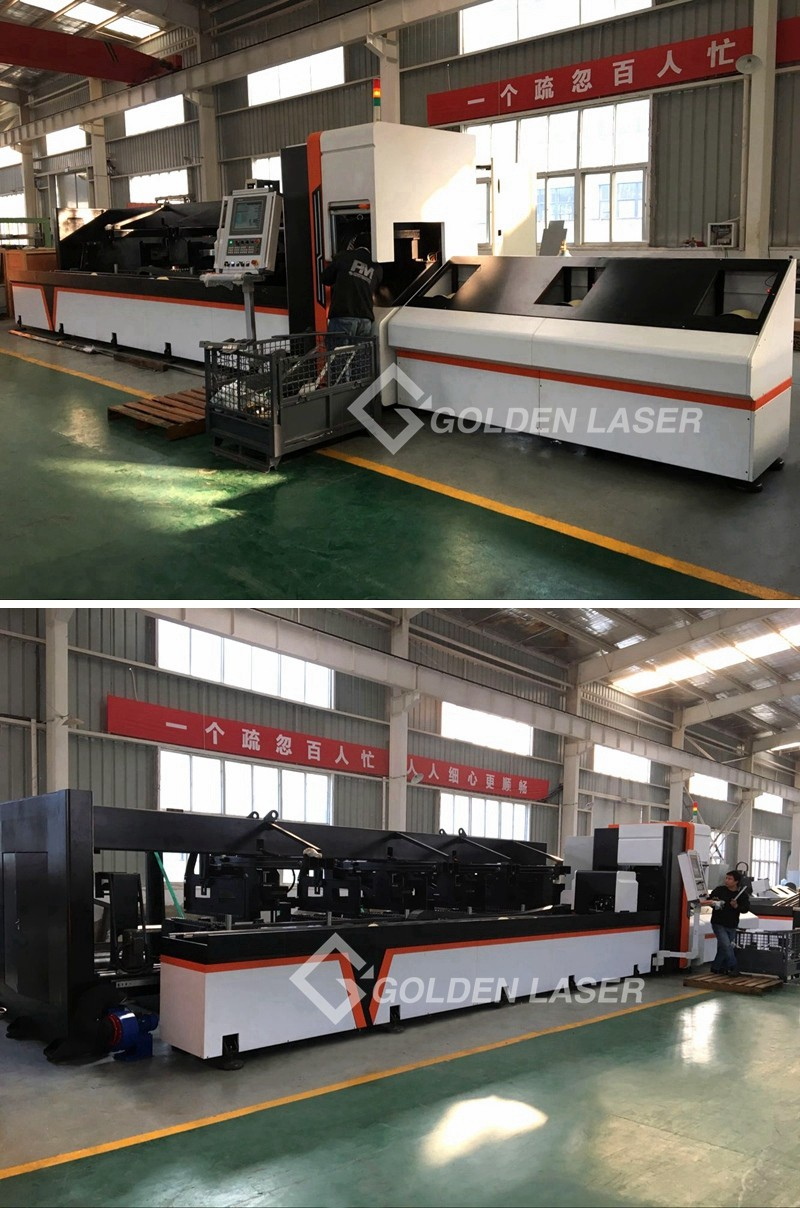 tube laser cutting machine in factory