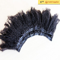 "halo hair extension wholesale High end products 16""-24"" on stock :6A kinky clip in hair meche"