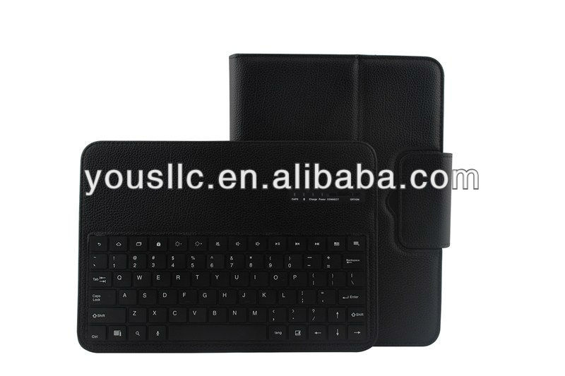 For samsung galaxy tab 3 10.1 P5200 Foilo Stand PU Leather Mobile Phone Case Cover With Bluetooth Keyboard