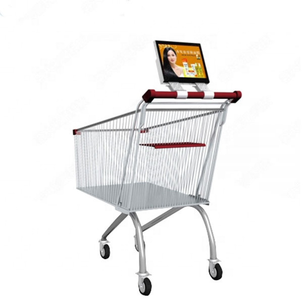 10.1 Inch battery powered Supermarket Shopping Trolley Digital Signage <strong>Advertising</strong>