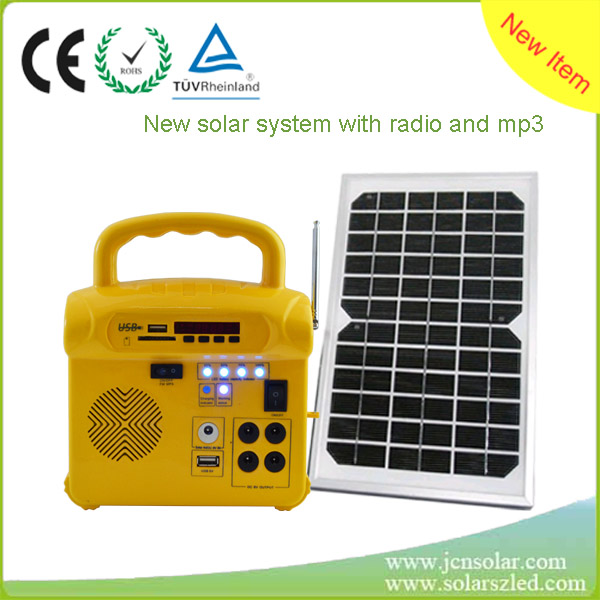 Industrial Home mini Portable Solar Led Light Lighting System home, Polycrystalline Silicon Portable Solar Power System