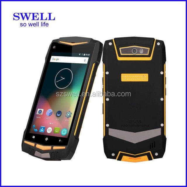 "Latest 5"" Quad Core Dual SIM Android 5.0 4G WCDMA GPS Rugged Waterproof celulares smartphones 4g"