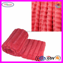 C725 Yingii Branded Double Sided Faux Fur Blanket Throw Spice Coral Branded Blanket
