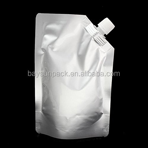food grade aluminum foil bag stand up drink pouch with spout flexible packaging spout bag for bdverage liquid or fruit