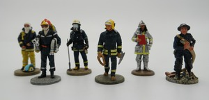 Premium high-quality handy craft figures, collectible white metal firefighters figurines