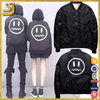 Smiling Face Embroidered Bomber Jacket For Young Ladies And Boys