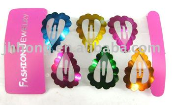 hair extension metal snap clips channel