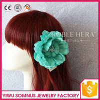 Factory Handmade Colorful Artificial Hair Flower