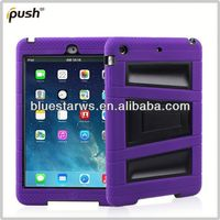 silicone pc case with stand for ipad air New Design Combo Case Soft Silicone PC Case Cover for Apple iPad Air