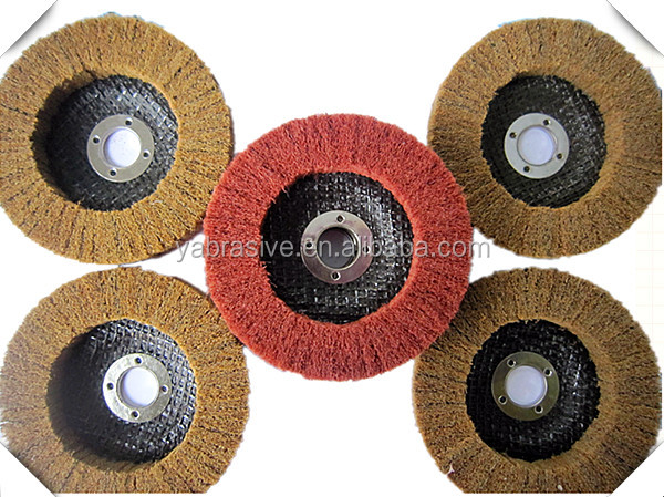 "4 1/2"" x 7/8"" 115*22mm Fine T29 Conical Non woven abrasive flap disc for cleaning/polishing"