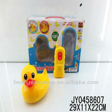 New toy with RC duck play in the water or land