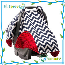 Hot Sales chevron car seat canopy car seat cover baby canopies