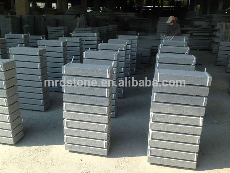 Natural stone standard kerbstone sizes grey granite curbstone for road pavement