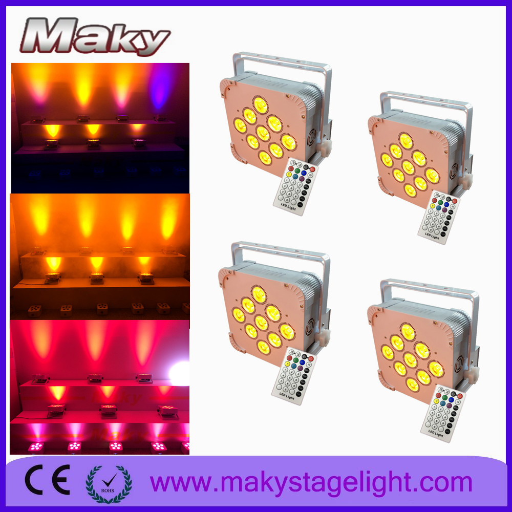 Guangzhou MAKY factory battrey powered wireless dmx led backlight stage light, led stage light