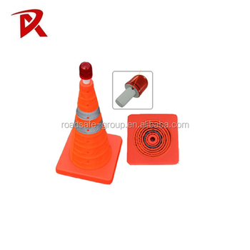 ABS PP PVC retractable collapsible folding traffic cone