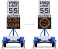 Vehicle-activated radar signs speed sign with mobile controller IP56