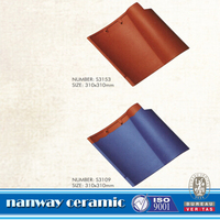 blue color spanish clay roof tile,ceramic roof tiles in china
