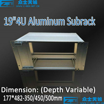 4u/177*482*350/400/450/500mm 19 inch standard aluminum network server subrack