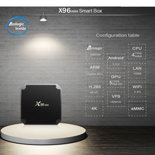 X96 mini Android 7.1 TV Box S905w 1gb 16gb set top box satellite receiver android smart international tv box