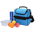 Double layer customized insulated cooler lunch bag for adult