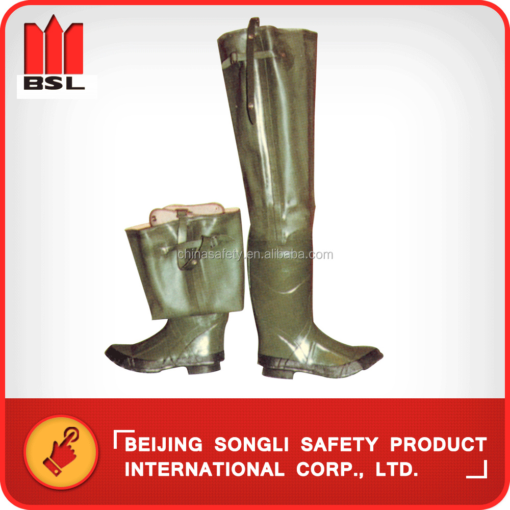 China Hot selling top quality low price SLS-R005 Rubber angling boots rain boots rain shoes gum boots