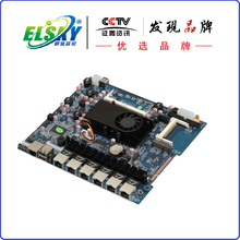 Supporting DC 12V Power Supply motherboard ATOM D525 Dual Core 1.8G Firewall Motherboard with 6 Lan and VGA