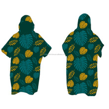 Surf hooded Changing robe poncho towel beach poncho