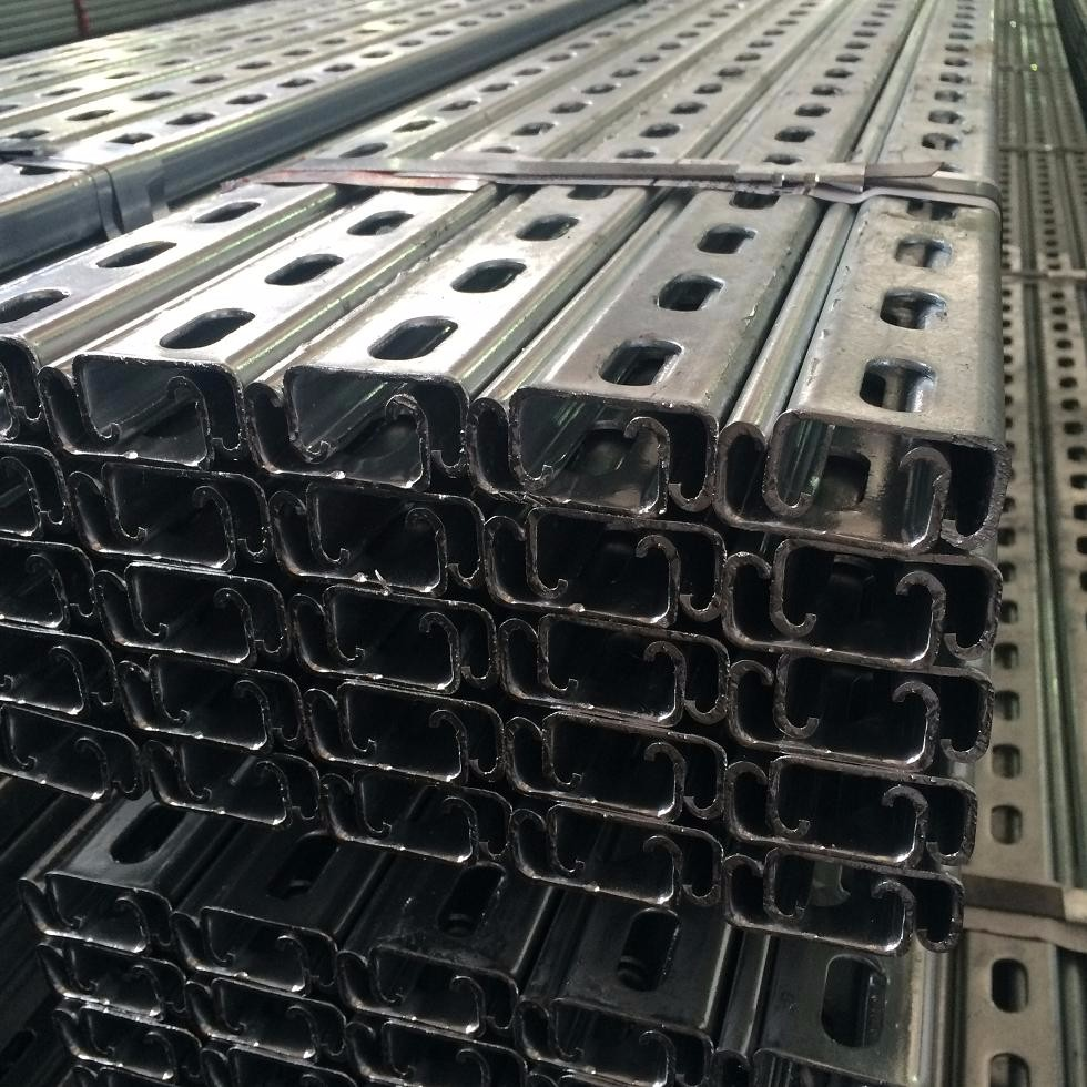 C perforated Strut channel for photovoltaic support