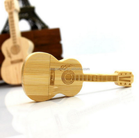 Promotional USB Flash drive wood Music Gift Guitar