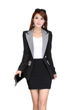 Fashion 2015 women casual blazer cheap Splicing cultivating long-sleeved small suit women jacket
