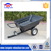 single axle tipping dump trailer