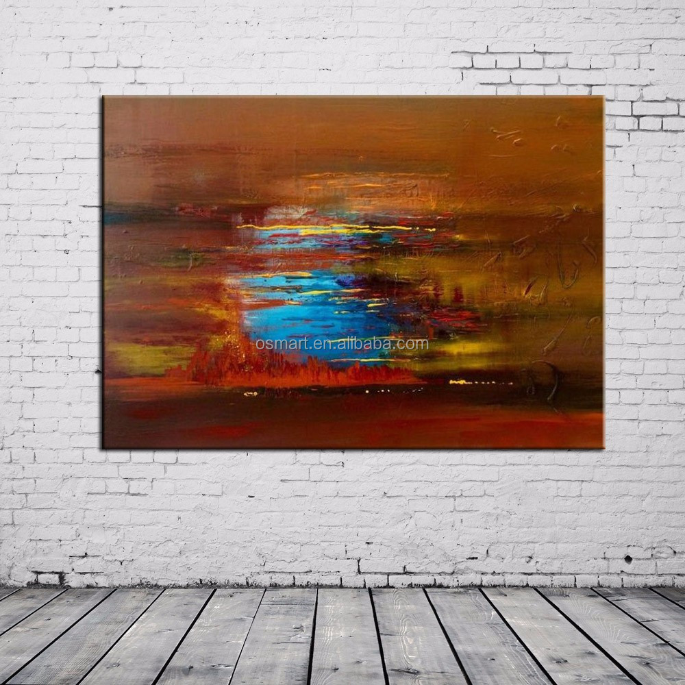2015 New and Pop Product Handmade Abstract Acrylic Painting On Canvas