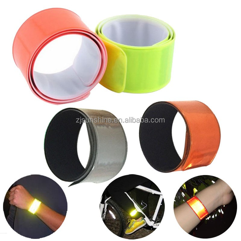 CE Promotion Printed reflective slap band Bicycle Reflector