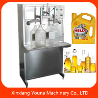 two heads manual plant oil filling machine for small business