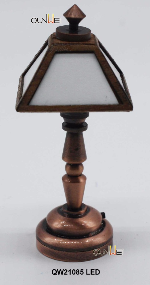 Dollhouse Table Lamp Miniature Lighting LED Battery Light Collectable Art & Craft