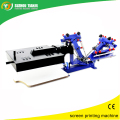 Desktop Manual 3 color 1 station textile printing machine with flash dryer