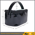 black pvc shopping tote bag/ vinyl pvc tote bag/pvc shopping bag cosmetic travel bags packaging