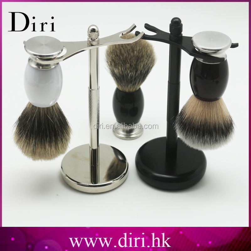 amazon best seller pure badger hair shave brush set with stainless steel shaving stand