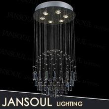 zhongshan nice contemporary reflector indoor art deco clear glass crystal drop ceiling light fixture for living room